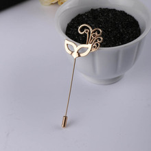 Gold Party Mask Brooch Men Lapel Pins For Suits Broche Lapela Shirt Collar Brooches For Women