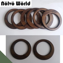 5 pairs=10 pieces,15cm Solid OAK tree Wood Big O ring DIY bags handbags handles,wholesale Wooden large purse handle parts