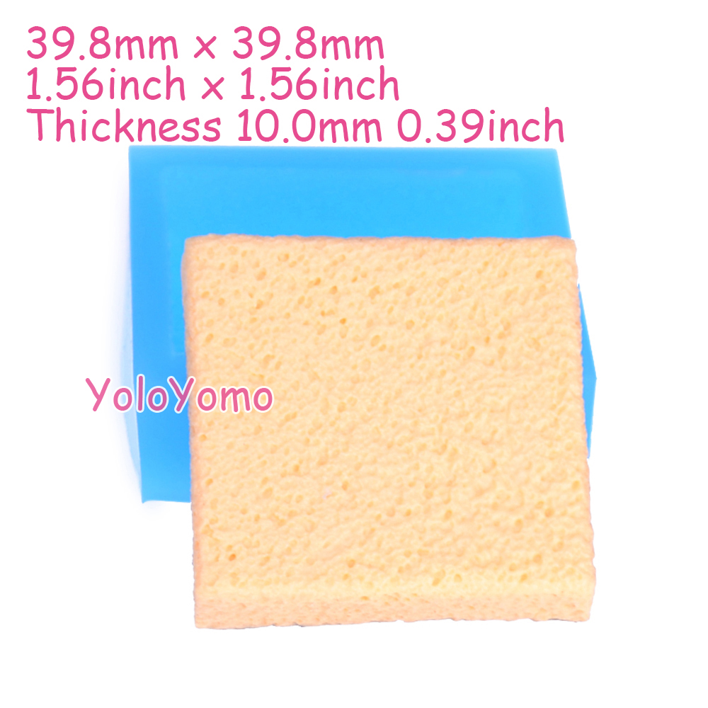 G406YL 39.8mm Square Cake Base Mold - Cake Bottom Silicone Mold Fondant Craft, Gum Paste, Candle, Charm Resin, Fimo Clay Mold(China (Mainland))