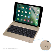 "Brand New Ultra Thin Wireless Bluetooth Keyboard Wireless Mechanical Keyboard For iPad 9.7"" iPad Air 1 Gold Sliver High Quality(China)"