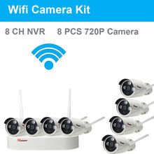 8CH CCTV System Wireless 1080P NVR 8PCS 1.0MP IR Night Vision Outdoor Onvif P2P Wifi IP Security Camera Video Surveillance Kit