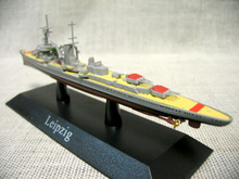 At 1:1250 Germany in Leipzig class light cruiser model Mini warship model Rare collection model Only one(China)