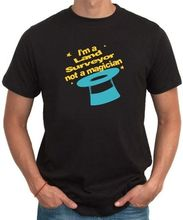 Print T Shirt Men Hot I'M A Land Surveyor, Not A Magician T-Shirt