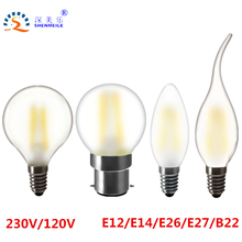 RXR More protect eyes Frosted E27 E26 E14 E12 B22 2w 4w 6w Design lamp G45 globe Edison Retro LED candle light Bulbs 110V 220V