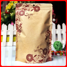 50pcs/lot 18cm*26cm+4cm*140mic Gift Bag High Quality Craft Paper Bag Self Sealing Zip Lock Plastic Bags With Hole