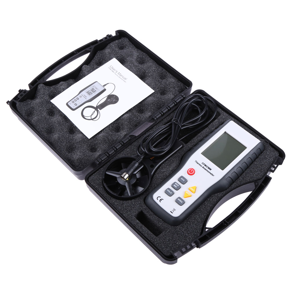 Handheld Digital Portable Wind Speed Air Volume Measuring Meter Anemometer Electronic tachometer LCD anemometro with Backlight<br>