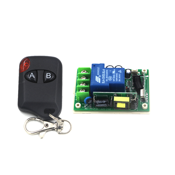 Best Promotion 85V-250V 30A 1CH Wireless RF Remote Control Switch Transmitter Receiver Inter-lock A-ON B-OFF SKU: 5271<br><br>Aliexpress