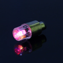 B35 2Pcs Colorful Neon LED Light on Valve Cap of tyre Tire Wheel Car/Motorcycle/Bike 2016 New Arrive