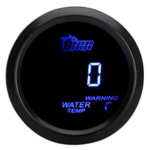 52mm 2.0 inch LCD 40~120 Celsius Degree Auto Car Digital Water Temperature Meter Gauge with Warning Sensor Light - Bla