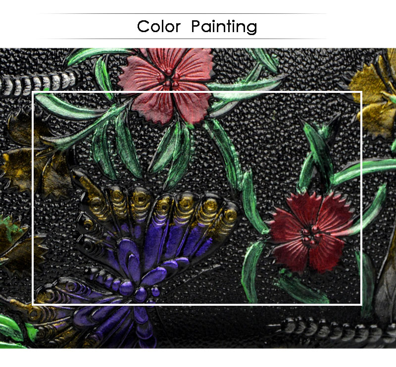 Dreamlizer Animals Printing Pattern Genuine Leather Women Wallets 8