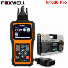 Foxwell NT630 Pro OBD2 Automotive Scanner ABS SRS Airbag Crash Data Reset Tool SAS Steering Wheel Angle Car Diagnostic Scan Tool(China)