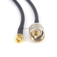 UHF Male PL259 Plug to RP SMA Male Connector Coax Adapter Extension Cable 19 inch
