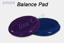 34cm Yoga balance pad PVC Massage cushion mat Wobble stability disc ball Thicken Balance board fitness bear 500kg With air pump