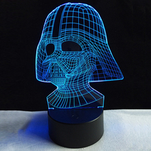 3D USB Colors Visual LED Table Lamp Touch Mood Dimming Sleep Night light Star Wars Darth Vader Dark Warrior Cool Figure Kid Toy(China)