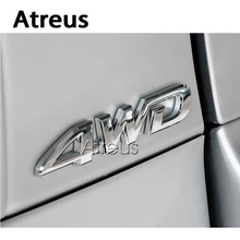 Atreus 3D 4WD 4x4 Metal Car styling Metal sticker For Kia Rio Ceed sportage Honda civic Renault duster Volvo Subaru Accessories(China)