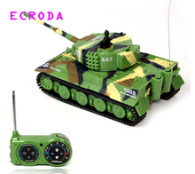 ECRODA  2117 Simulation German RC  Tiger Tank 14CH 1:72 Remote Control Simulated Panzer Mini RC Tanks For Child Toy kids gift