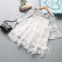 2017 Children Princess Kids Dress Summer Lace Dress for Girl Fairy Lace Dresses Good Quality Baby Infant Cute Lace Costume