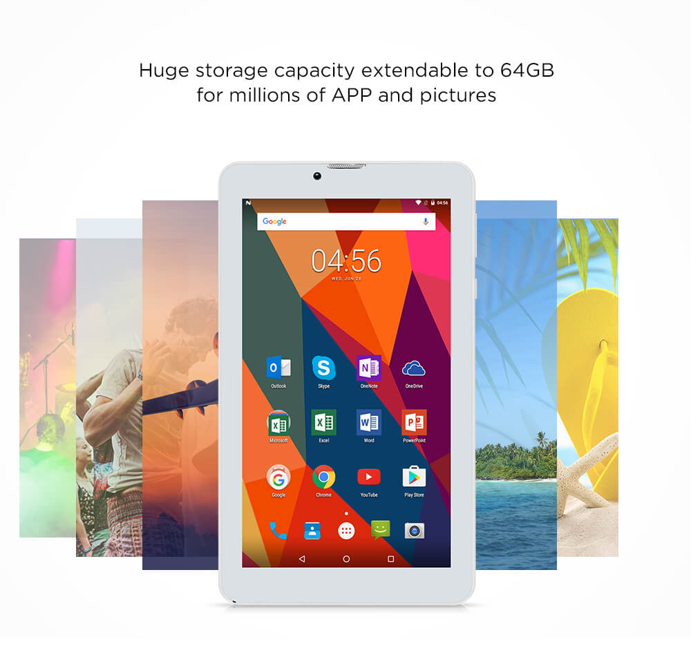 "Original iRULU X6 7"" Tablet Quad Core 3G Phablet ROM 16GB Android 7.0 GPS 2800mAh Bluetooth WiFi Dual Cam 2MP Faster Speed GMS"