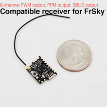 2.4G 8CH D8 Mini FrSky Compatible Receiver With PWM PPM SBUS Output(China)