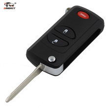DANDKEY 3 Buttons Remote Flip Folding Key Shell Case For Chrysler Dodge Jeep PT Cruiser Town & Country Voyager Prowler