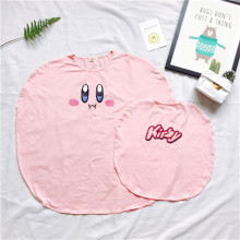 Kirby Super Star pink girl dress nightgown Mother and daughter style match clothing casual dress adult and kid