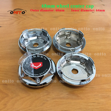 Hot selling 4pcs 68MM Chrome Car Wheel Center Covers Wheel Dust-proof emblem covers for VOSSEN(China)