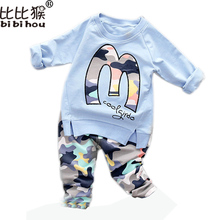Kids Clothes Set Baby Boys Girls Clothes Suit Toddler Boys Clothing Long Sleeve Tshirt Pants Casual Tracksuits Children Clothes