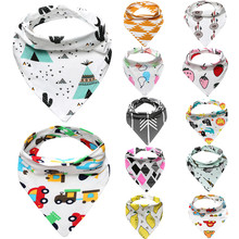 12 Patterns Slyunavchik Girls Boys Baby Bibs Cotton Bandana Saliva Towel Triangle Babador Baberos Feeding Convenient Skin Aprons