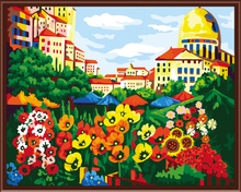 Frameless Pictures Painting By Numbers DIY Digital Oil Painting On Canvas Home Decoratin 40x50cm Flower Market G257