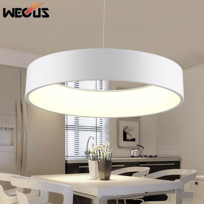 (Wecus) Modern D450mm round circle hanging lamp 28W led dining room kitchen pendant lamp household suspend lighting chandelier<br>