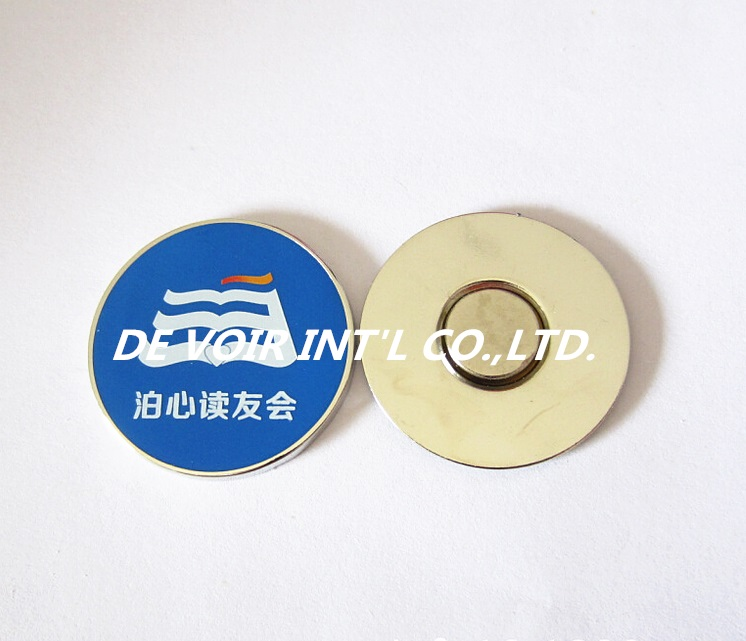 metal pin badge manufacturer, enamel metal badge with magnet(China)