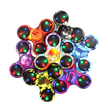 Buy New Fidget Spinner Light ABS Finger Spinner EDC Hand Tri Figet Spinner Autism ADHD Relief Focus Anxiety Stress Relax Gift Toys for $1.49 in AliExpress store