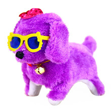 2017 New Electronic Toys Music Light Cute Robotic Electronic Pets Walking Dog Puppy Doll Baby Toys Krystal