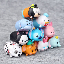 Disney Tsum Tsum 10pcs/Lot Tsum Tsum Donald Mickey Winnie Duck Toys Cute Elf Doll Bathing Toy Juguetes For Chirldren Gift