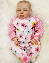 Lifelike Baby Reborn Doll Real Looking Baby Doll,Vivid Silicone Reborn Dolls 50 cm/20 Inch Kids Toys for Children Free Shipping(China)