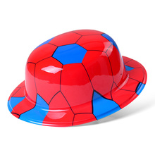 Wholesale new products Neonprinting plastic party round hat for football match 2 colors