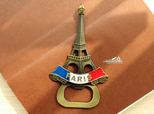 France Paris Eiffel Tower Tourist Travel Souvenir Metal Fridge Magnet Craft Beer Bottle Opener(China)