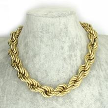 60CM Leghth Huge&Heavy Solid Gold Filled/Plated Mens Cuban Link Rope Necklace Chain Stainless Steel Men Jewelry Weigh