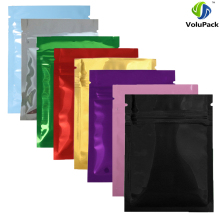 "7.5x10cm (3x4"") Sample Set Glossy 8 Colors Heat Seal Aluminum Foil Small Ziplock Bags Flat Zip Lock Retail Package Bag"