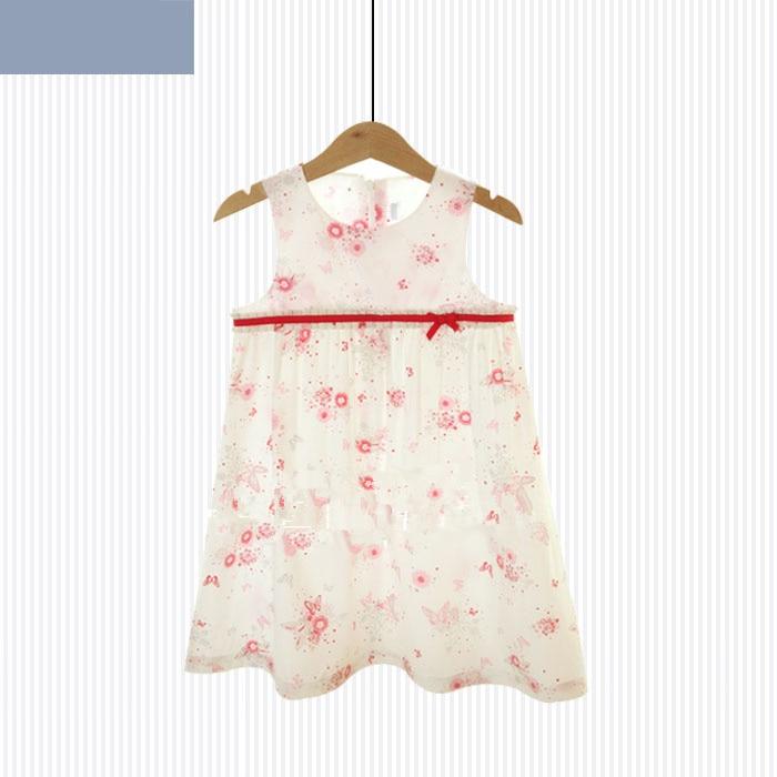 Pink floral girl dress on white cupcake dress  Princess dress  Dress  Childrens wear <br>
