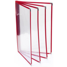 30Pcs/lot A4 PVC Wine List Holders 8 Views Restaurant Menu Covers Cafe Bar Menu Folders Accept Customized Order