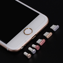 Universal Practical Metal Earphone Jack Dust Plug 4 in 1 For Iphone 5 5S 6 6S Plus Mobile Phone Accessories