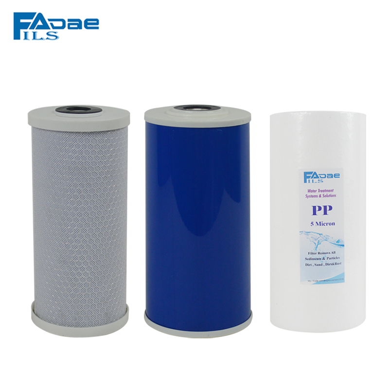 Big Blue Whole House Water Filters with PP Melt Blown ,GAC Activated carbon and CTO Carbon Block, 4-1/2 x 10<br>