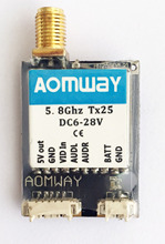 Upgrade Aomway Mini 5.8Ghz Switchable 25mW 200mW 40CH TX25 AV Wireless Transmitter Module  For QAV X R 220 FPV Racer Quadcopter