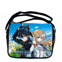 Anime Sword Art Online Messenger Bag Canvas School Students Shoulder Bag #677Leisure Crossbady Bag Gift For Boys Girls