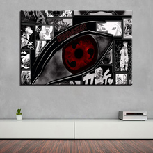 HD Prints Canvas Pictures Wall Art Framework 1 Piece/Pcs Naruto Sharingan Paintings Animation Posters Home Decor Living Room
