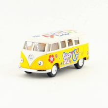 Free Shipping/1:32 Scale/1962 Volkswagen Classical Bus/Pull Back Diecast Toy Car Model/Educational Collection/Gift For Children