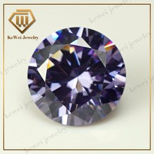 High Quality Biggest Size AAAAA 15mm-20mm Lavender Loose CZ Cubic Zirconia Beads Stone Synthetic Gemstone