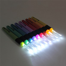 New Various Sizes 9PCS Light Up Crochet Lite Hook Craft Set Knitting Needles For Loom Tools Sewing Hook With LED Value Pack