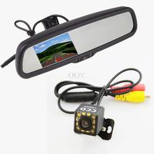 "4.3"" TFT LCD Parking Car Monitor Rear View Camera Mirror Car Bracket Monitor with 2CH Video Input Parking Assistance System"